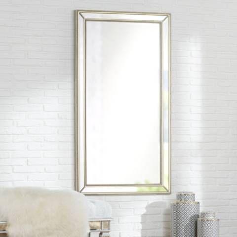 Roseau Palais Silver 32 1 2 X 59 1 2 Beaded Mirror 1w986