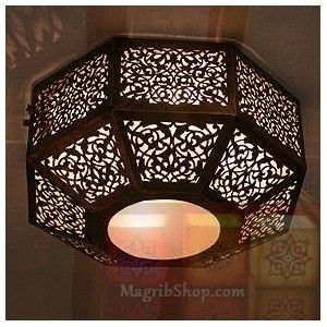 Ceiling fixture - Morrocan style  not a direct copy - but inspiration photo of light fixture for inside nook.