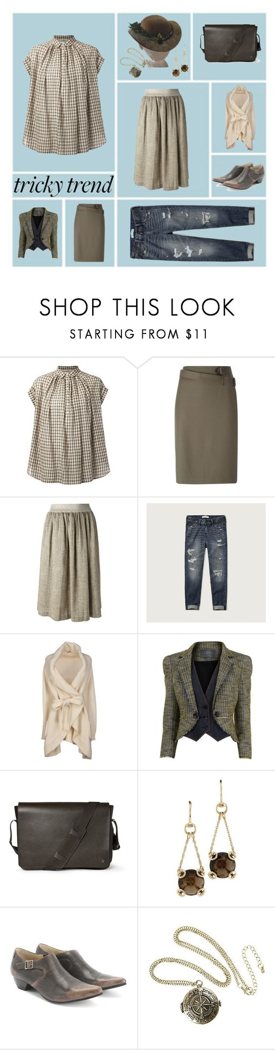 """""""Touch of Vintage"""" by rewolf71 ❤ liked on Polyvore featuring Nili Lotan, 3.1 Phillip Lim, Forte Forte, Abercrombie & Fitch, Le Ragazze Di St. Barth, McQ by Alexander McQueen, Dunhill, Gucci, John Fluevog and EASEL"""