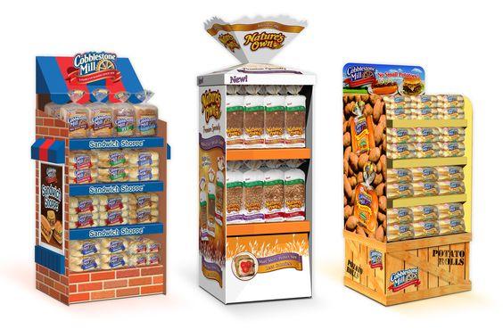 Cobblestone Mill Bake Shop, Nature's Own Giant Bread Bag and Cobblestone Mill Potato Crate Displays