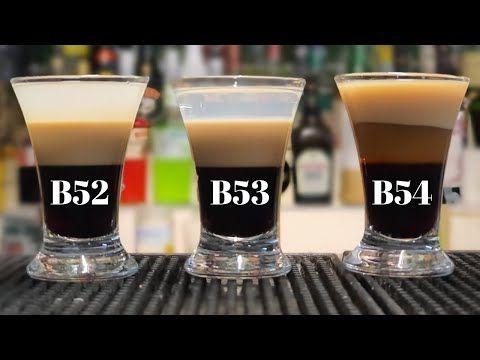 Layered Shot B52 B53 And B54 Youtube Layered Shots Cocktail Shots Shots