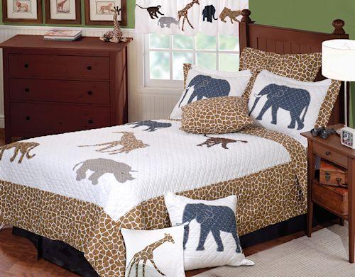 Animal Print Bedding, Twin Quilt And Jungle Safari On