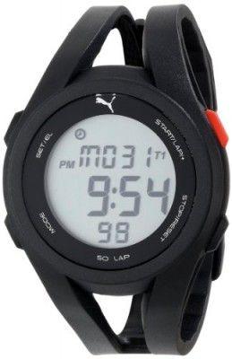 Relógio Puma Men's PU911131001 Airy White Black Digital Sport Watch #Relógio #Puma