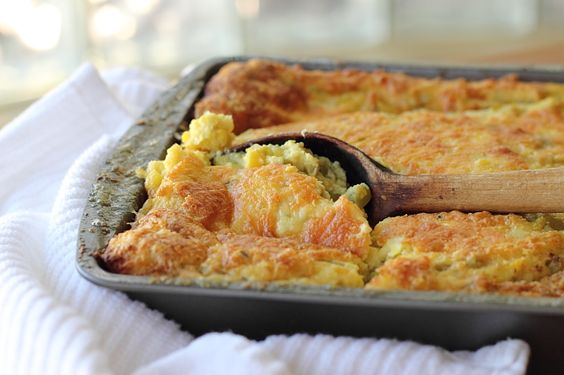Hatch chili Corn Pudding.. use C4C instead of flour, and follow her ...
