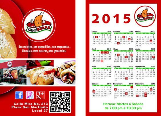 Así quedaron nuestros calendarios 2015.