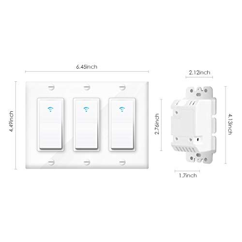 Smart Light Switch Vaticas 100 240v Smart Wifi Light Switch Compatible With Alexa Google Home And Ifttt With Remote Con Light Switch Smart Wifi Smart Lighting