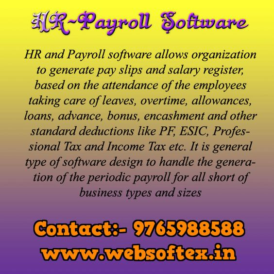 HR and Payroll software allows organization to generate pay slips - pay in slips