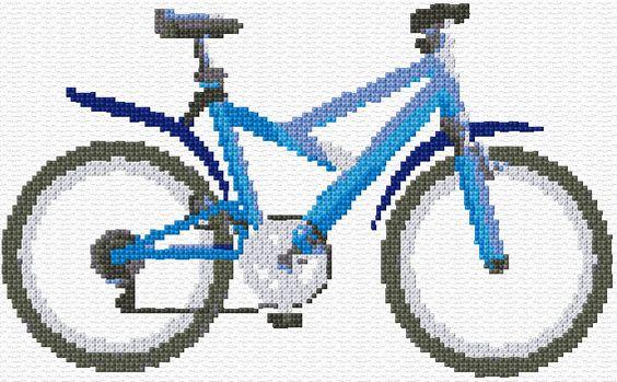 Cross Stitch | Bicycle xstitch Chart | Design