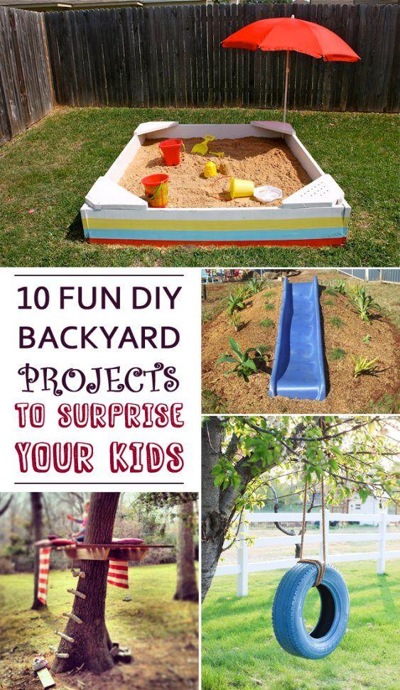Kids 10 Fun Diy Backyard Projects