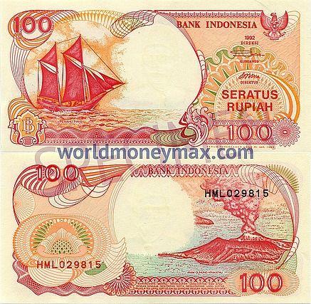Indonesia 100 Rupiah 1992 banknote