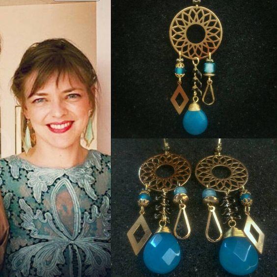 #MadebyFrance #handmade #earrings #creationsurmesure #galadress. Modèle : Béryl.