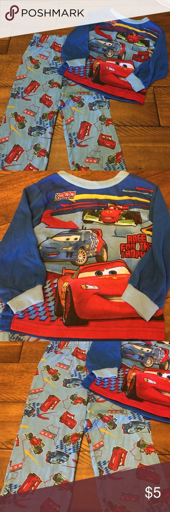Cars Pajama Set Excellent condition!!!  Worn only once and my son decided he no longer liked Cars 😉 Disney Pajamas Pajama Sets