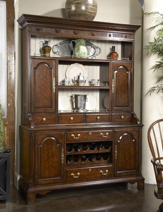 Cambridge Welch Cupboard Buffet w/ Hutch | Fine Furniture Design | Home Gallery Stores