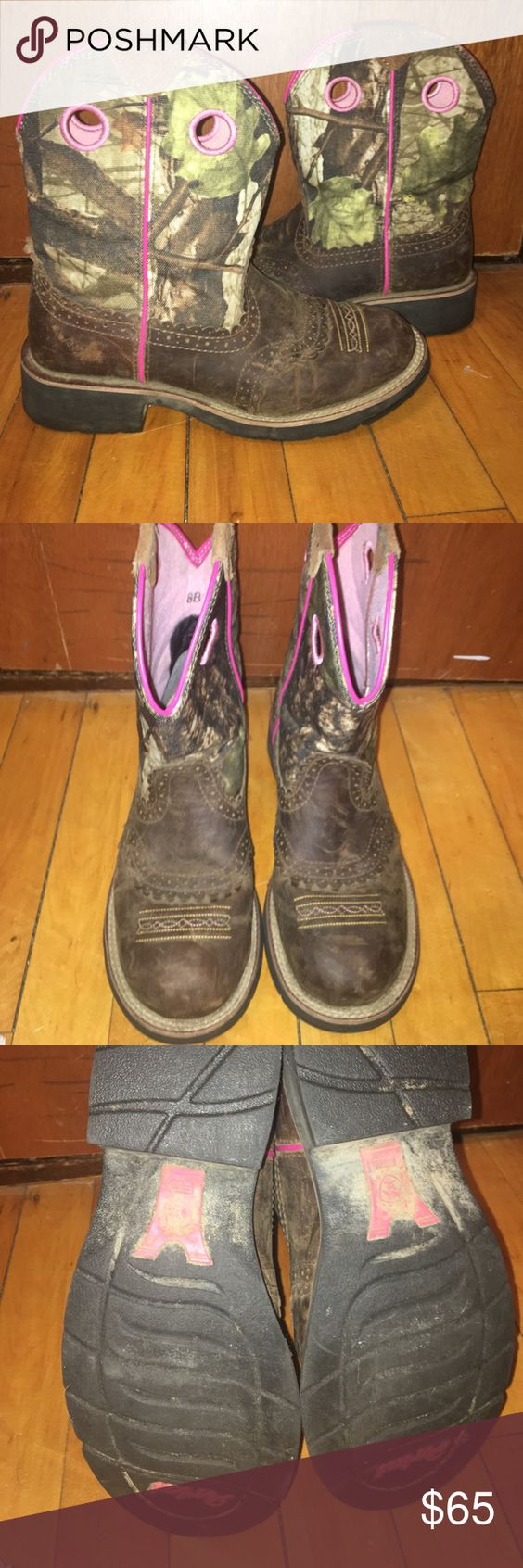 Ariat Cowboy Boots | D, Pink and Real leather