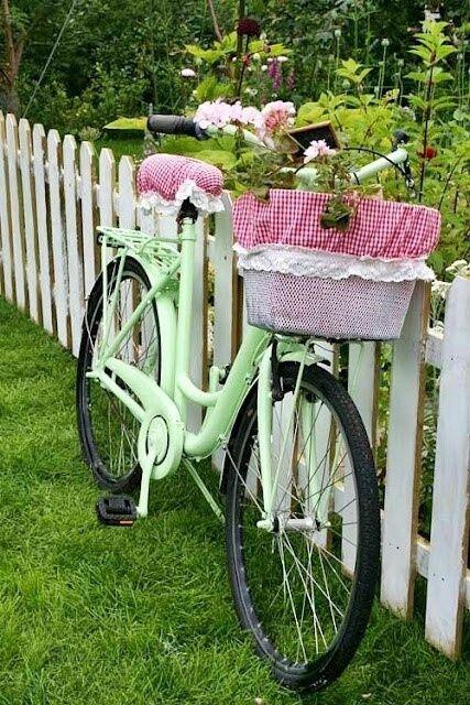 I would love a vintage bike in my yard...