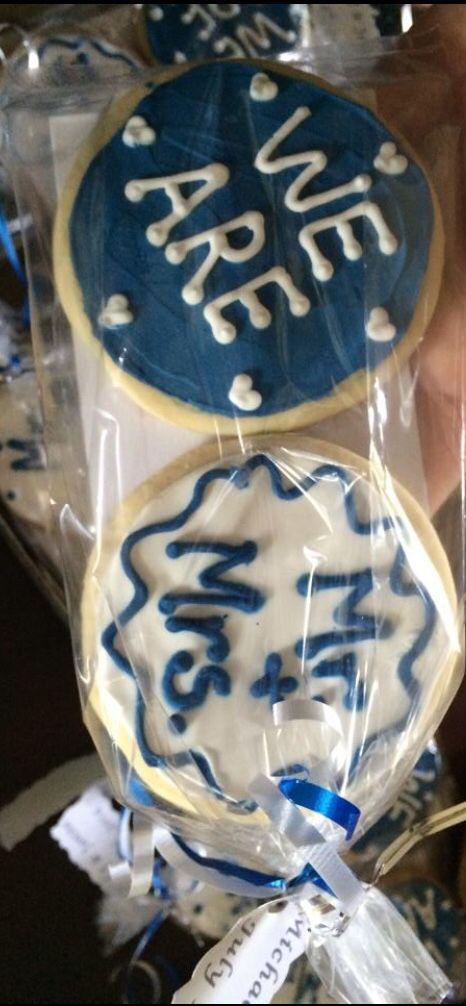 Penn state wedding cookies