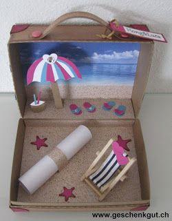 hochzeitsreise koffer koffer basteln hochzeitsreise geschenke basteln ...