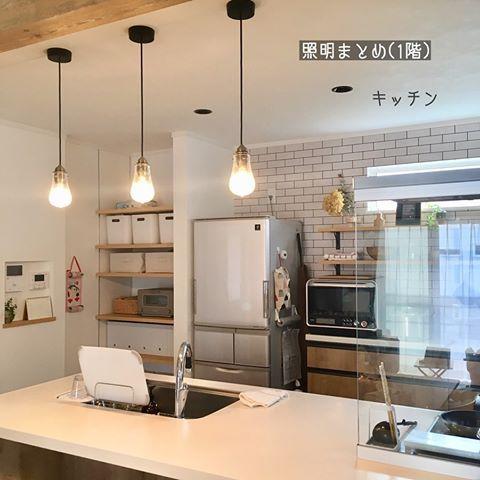 이미지 테이블 실내 ダウンライト キッチンデザイン リビング