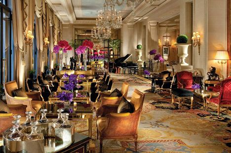 I enjoy the best hot chocolate in Paris, without doubt, in the Four Seasons George V hotel, on the Avenue George V. ~ Colette Le Mason @}-,-;--