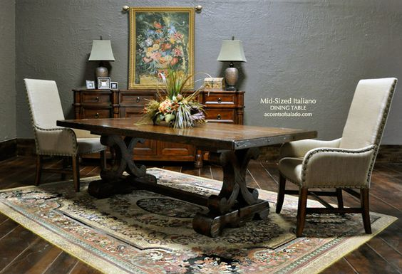 Old World Dining Table And Chairs At Accents Of Salado Tuscan Decor Dining