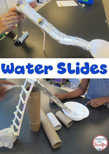 STEM Challenge: Build a water slide and then test it- with water! And, just for fun, add a toy figure to the slide to try it out! Have plenty of towels on hand! Read this blog post for details!: