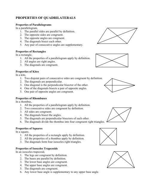 Diagonals Of Quadrilaterals Worksheet Worksheets Are A Crucial Portion Of Researching English Litt In 2021 Quadrilaterals Quadrilaterals Worksheet Teaching Geometry