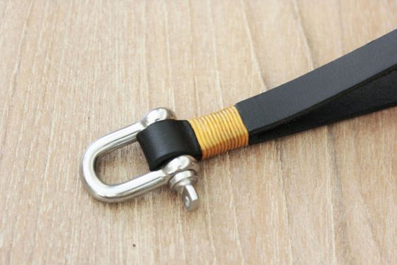 Leder Schlüssel Kette Armband Keychain von Monkeychain196 auf Etsy