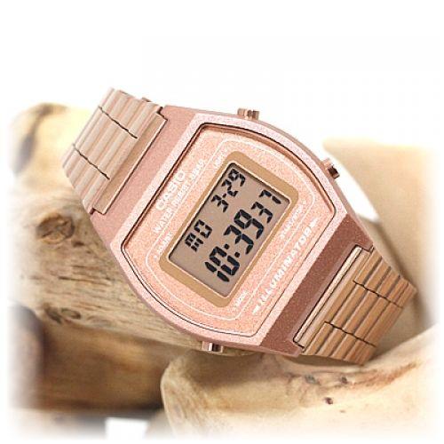 Relógio Casio Retro B-640 Rosa Dourado