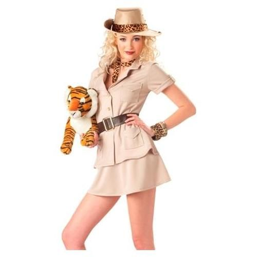 Adult Womens Halloween Costume Safari Zoo Keeper Outfit