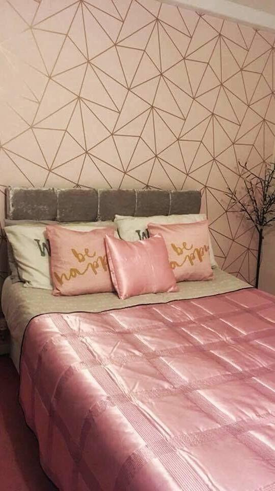 Zara Shimmer Metallic Wallpaper Soft Pink Rose Gold Rose Gold Rooms Bedroom Makeover Metallic Wallpaper