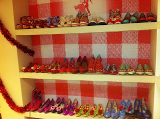 Shoe heaven!! Photo from a previous sample sale at UK Miss L Fire headquarters! Can we just live there?!