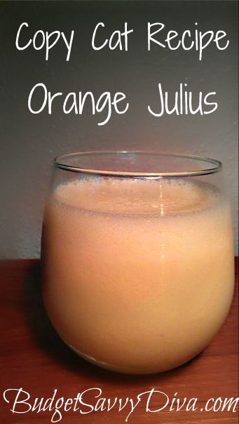 Copy Cat Recipe: Orange Julius