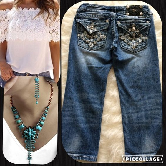 """Miss Me Studded Capri Jeans/Pants, Size 26 Miss Me Studded Capri Jeans/Pants, Size 26, waist 26"""", rise 6.5"""", inseam 19"""" even though it says 20"""" on tag, no stains rips or missing studs, great condition, pet/smoke free home Miss Me Jeans Ankle & Cropped"""