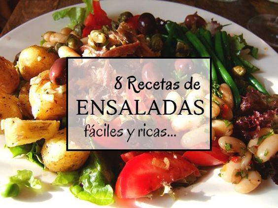 8 Recetas de ensaladas fáciles no te lo pierdas. Pincha en este enlace o en la foto para acceder y ver la publicación completa en La cocina de Lila