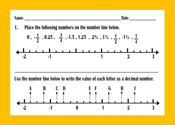 Ordering Decimals and Fractions on Number Line Worksheet – Ordering Decimals on a Number Line Worksheet