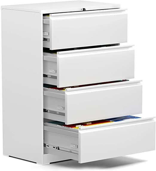 Aobabo Lateral File Cabinet 4 Drawer Metal File Cabinet With Lock Letter Legal Size 28 25 Rdquo W Fa Filing Cabinet Lateral File Cabinet Steel Storage Cabinets 4 drawer legal size file cabinet