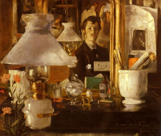 Ramon Casas - autoportrait, 1882