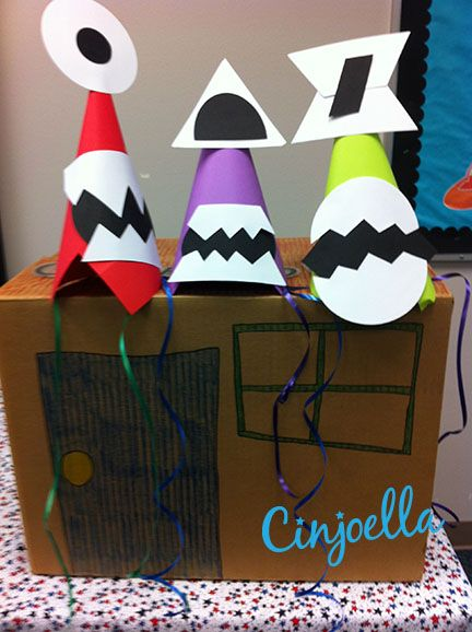 alien monster party hats crafts