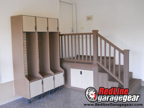 Garage lockers are a great way to get the kids things organized. We need these so badly for all kids sports gear!