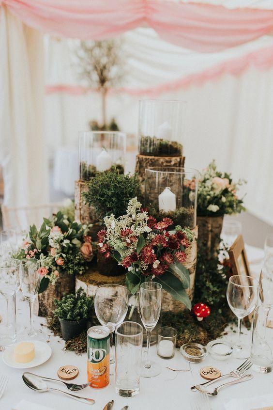 Finest Stored Wedding Centerpiece Diy Do Not Buy Unless In 2020 Woodland Wedding Centerpieces Wedding Floral Centerpieces Wedding Candles Table