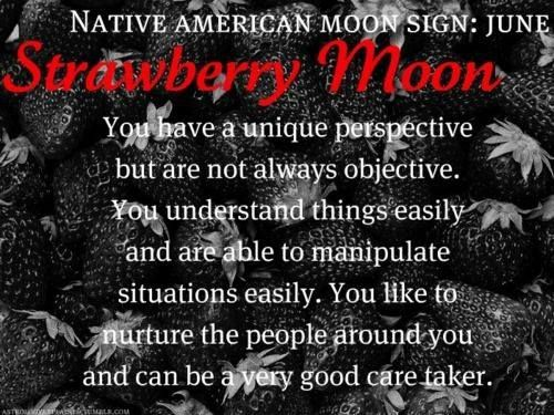 Native American Moon Sign - Strawberry Moon