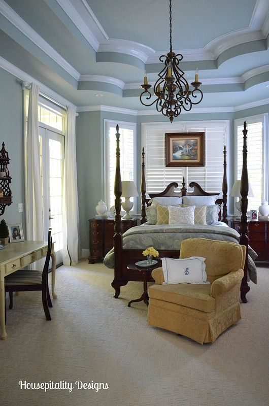 Love this molding and ceiling home tour the cottage of Master bedroom ceiling colors