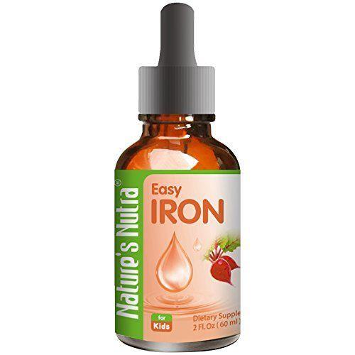 Natures Nutra Easy Iron 2 Fl Oz 60ml Premium Baby And Infant Liquid Drops Toddlers Kids Children Multivi Iron Supplement Multivitamin Supplements Multivitamin