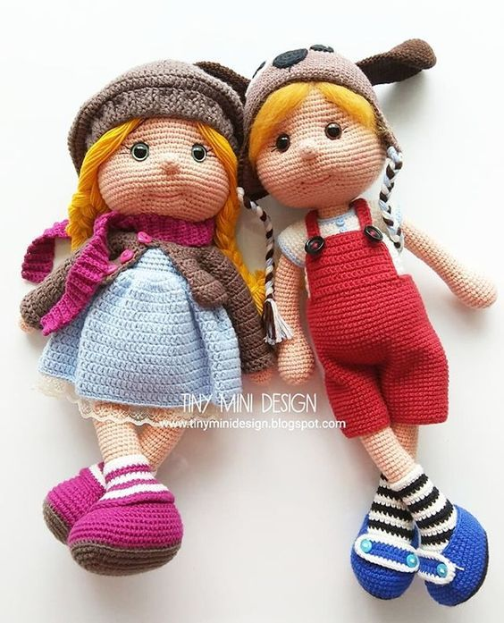 Mini human, crochet doll pattern | Son's Popkes | 697x564