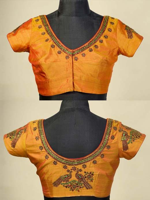Silk Blouse Hand Embroidery 19