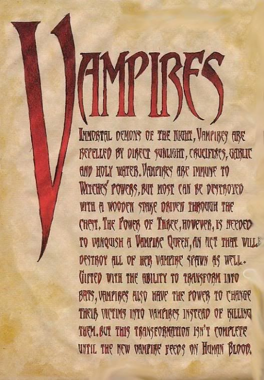 "Book of Shadows:  ""Vampires II."""