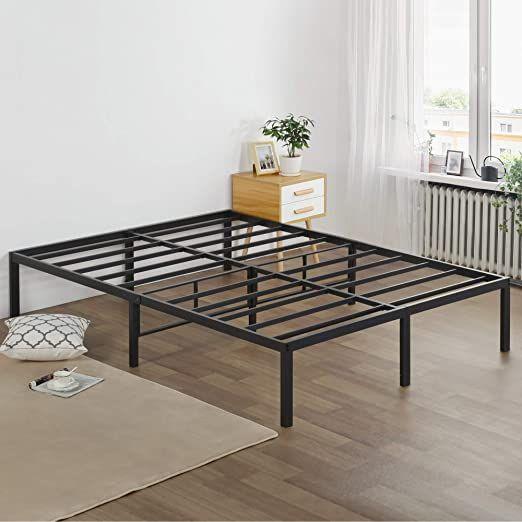Olee Sleep 16 Inch Heavy Duty Metal Platform Bed Frame Twin Xl