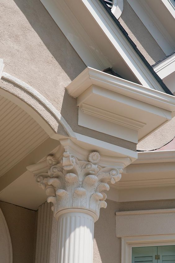2 story portico column detail designed and built by for 2 story porch columns