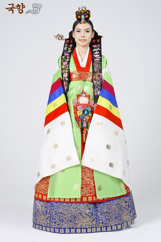Nok-wonsam (녹원삼) [Kostum Pernikahan (혼례복 = Honryebok)]