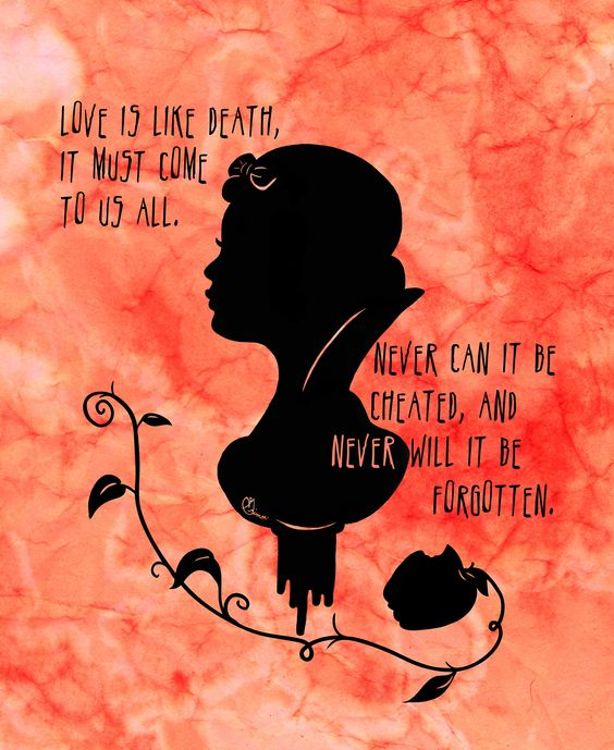 Love Death Quotes: Snow White, Love Is And Death On Pinterest